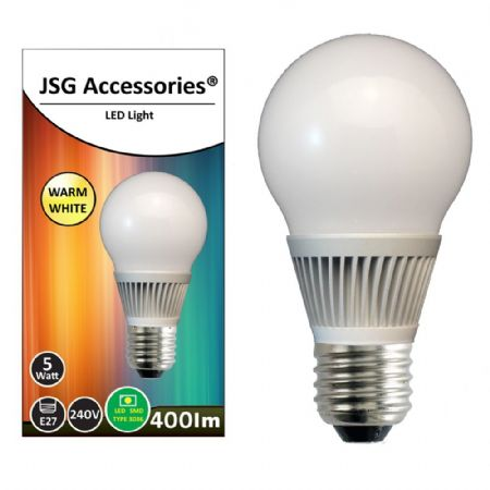 JSG Accessories® E27 Screw 5W Energy saving LED bulb in Warm White